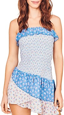LoveShackFancy Aya Cotton Ruched Bodycon Dress