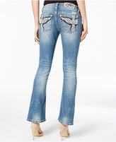 Miss Me Medium Wash Embroidered Ripped Bootcut Jeans