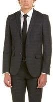 English Laundry 2pc Wool Suit With Flat Pant.