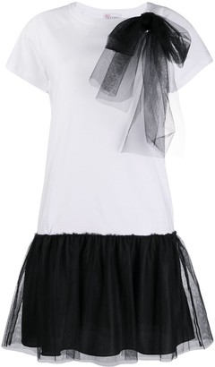 RED Valentino tulle detailed T-shirt dress