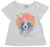 Lucky Brand Girls 7-16 Floral Bear Graphic Tee