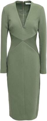 Rebecca Vallance Crepe-paneled Cloque Dress