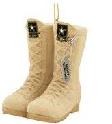 Kurt Adler Army Desert Combat Boot Christmas Ornament 3""