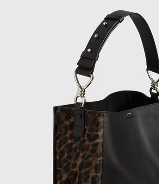 AllSaints Kim North South Leather Tote Bag