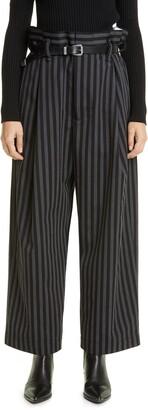 Meryll Rogge Stripe Wide Leg Virgin Wool Pants