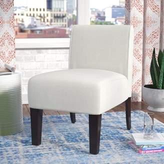 Wrought Studio Arrandale Slipper Chair Wrought Studio Upholstery Color: Ivory