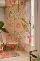 Urban Outfitters Rosa Floral Bamboo Beaded Curtain