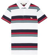 MAISON KITSUNÉ Striped Marin Polo