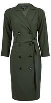 Dorothy Perkins Womens Khaki Trench Wrap Dress