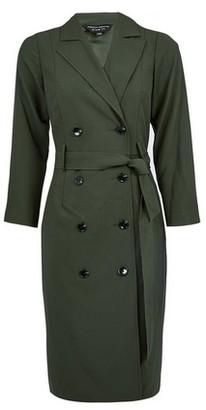Dorothy Perkins Womens Khaki Trench Wrap Dress