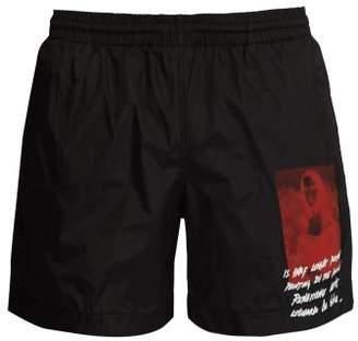 Off-White Off White Mona Lisa Print Swim Shorts - Mens - Black