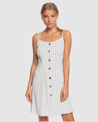 Roxy Womens Sweet About Me Strappy Buttoned Dress
