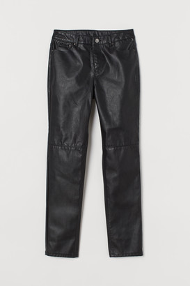 H&M Imitation leather trousers