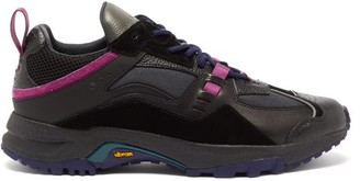 Marcelo Burlon County of Milan Panelled Leather And Suede Vibram Trainers - Mens - Black Multi