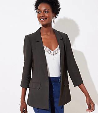 LOFT Tall 3/4 Sleeve Open Blazer