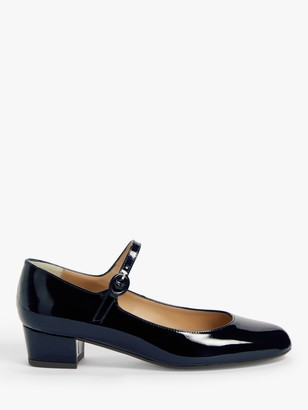 John Lewis & Partners Adora Patent Leather Mary Jane Court Shoes, Navy