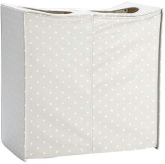 Pottery Barn Teen Collapse And Carry Hamper, Gray Dottie