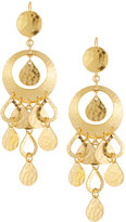 Jose & Maria Barrera 24k Gold-Plated Hammered Chandelier Earrings