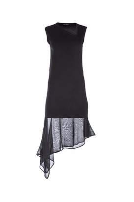 Neil Barrett Asymmetric V-Neck Dress