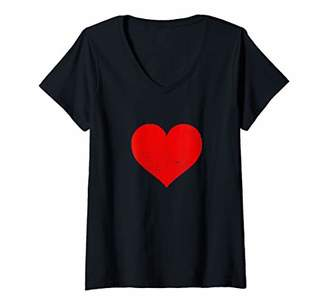 Womens Cute Valentine's Day Outfit Boyfriend & Girlfriend Tee Gifts V-Neck T-Shirt