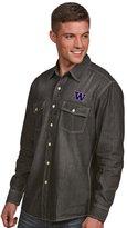 Antigua Men's Washington Huskies Chambray Shirt