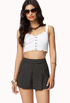 Forever 21 Dotted High-Waisted Shorts