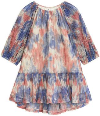 Arket Shimmering Balloon-Sleeve Dress