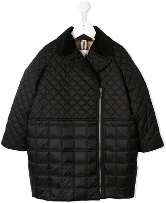 Burberry off-centre zipped jacket