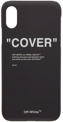 Off-White SSENSE Exclusive Black Quotes iPhone X Case