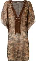 BRIGITTE abstract print beach dress