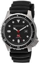 Momentum Men's 1M-DV44B1B Torpedo Pro Analog Display Japanese Quartz Black Watch