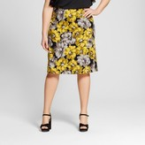 Who What Wear Women's Plus Size Pleat Back Pencil Skirt