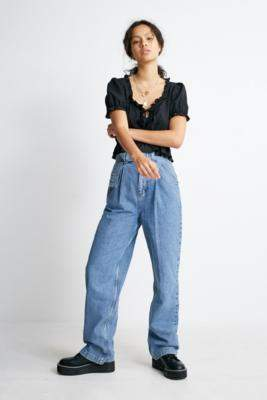 BDG Belted Puddle Jeans - blue 32W 34L at Urban Outfitters