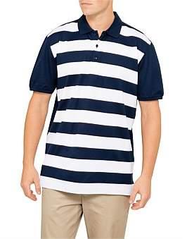 Paul & Shark C Nk Bold Stripe Cotton Linen Blend Knit