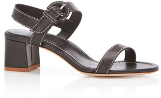 Marion Parke Rhiannon Block-Heel Leather Sandals
