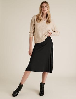 Marks and Spencer Jersey Knee Length Skater Skirt