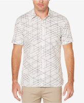 Perry Ellis Men's Linear- Print Shirt