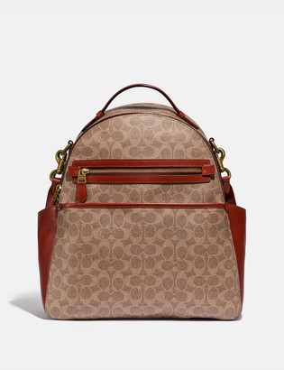 Coach Baby Backpack In Signature Canvas