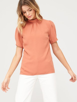 Very Short Sleeve Shell Top - Blush