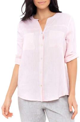 Jump Sequin Pocket Linen Shirt