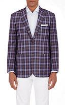 Brioni Men's Plaid Colosseo Sportcoat-PURPLE
