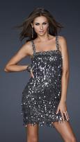 La Femme 17370 Flirty Sequined Straight Cut Sheath Dress