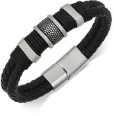 Thumbnail for your product : Sutton by Rhona Sutton Men's Stainless Steel & Leather Bracelet