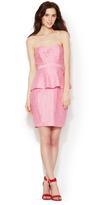 Tracy Reese Linen Peplum Bustier Dress