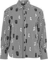 Topshop PETITE Pug Striped Shirt