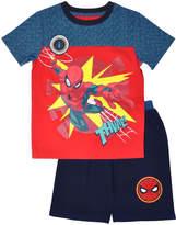 Children's Apparel Network Red Spider Man Thwip! Crewneck Tee & Shorts - Toddler & Boys