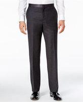 Ryan Seacrest Distinction Men's Slim-Fit Gray Flannel Tuxedo Pants, Only at Macy's