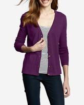 Eddie Bauer Women's Christine V-Neck Cardigan Sweater - Solid