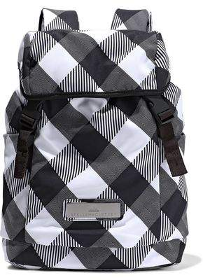 adidas by Stella McCartney Mesh-paneled Checked Shell Backpack