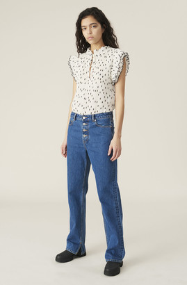 Ganni Basic Denim Relaxed Fit Jeans